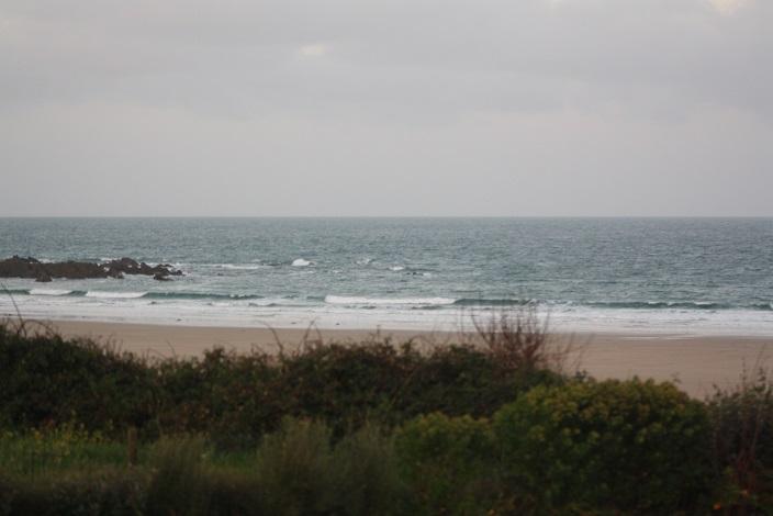 Petite houle et vent on shore