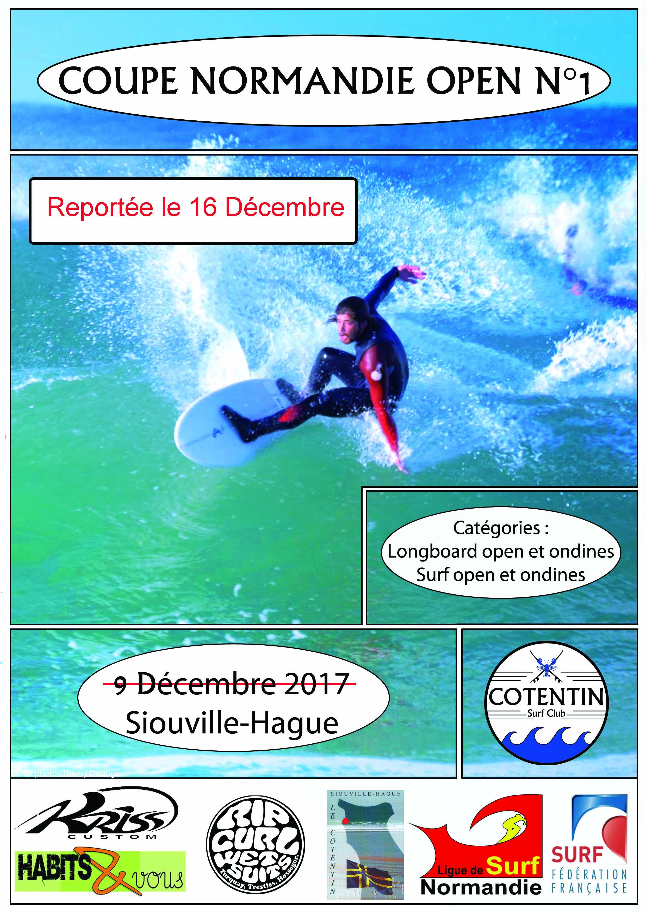 Annulation coupe Normandie n°1 et report le 16 Décembre