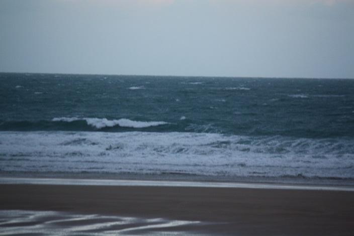 Coup de vent et mer démontée