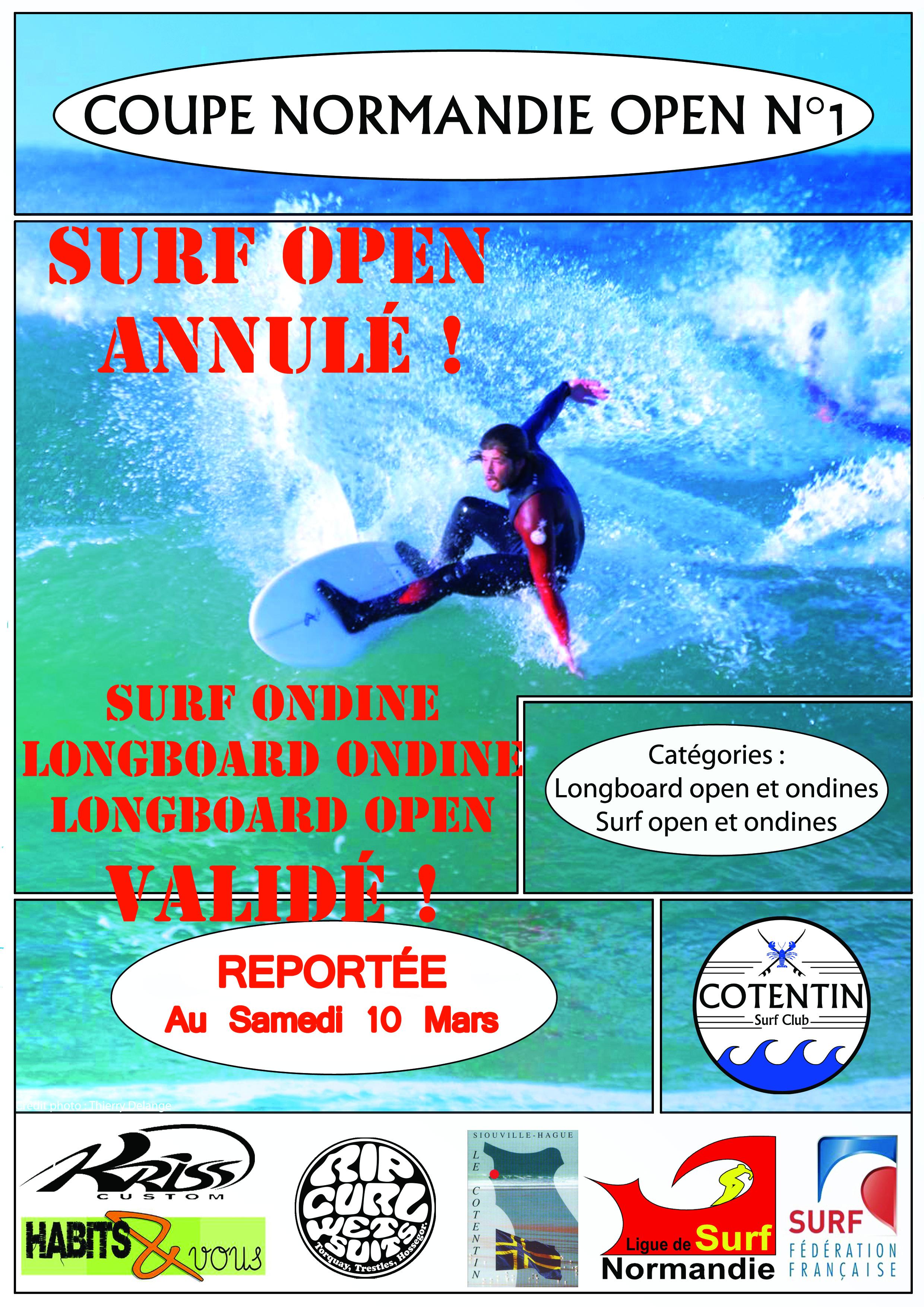 Coupe Normandie N°1 catégorie SURF OPEN ANNULÉ