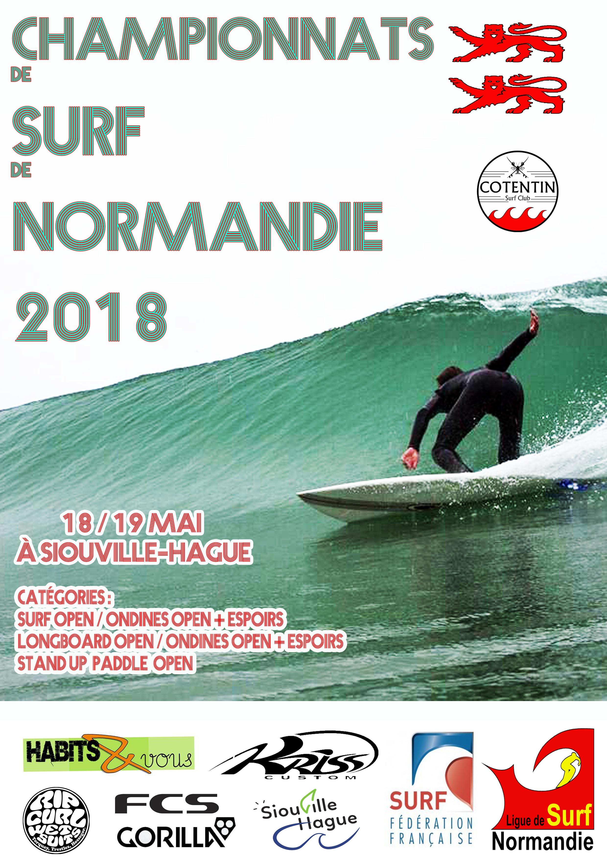 Prochaine compétition : championnats de surf de Normandie 2018