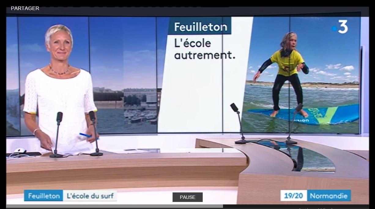 Section surf et sauvetage Collège de Famanville sur France 3