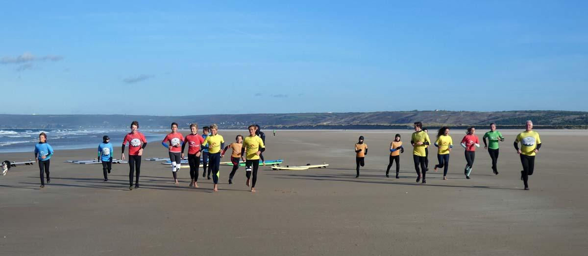Les entraînements du Cotentin Surf Club Novembre Décembre 2018