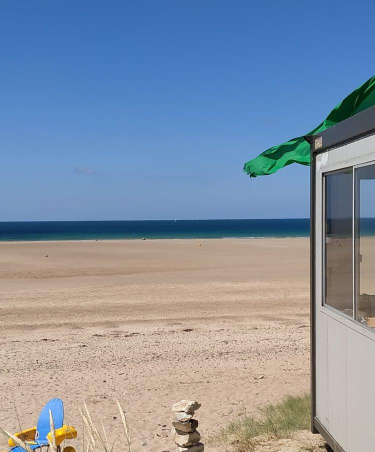 REPORT Le Rozel  14 juillet – Petites houle écrasée par le vent d'est
