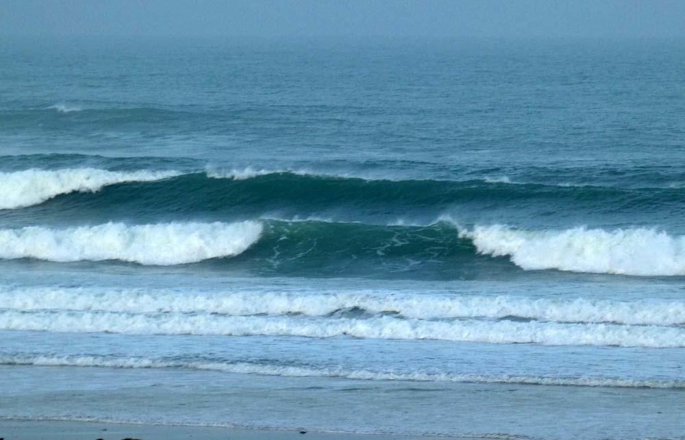 Retour au clame avec vent de sud et houle rangée
