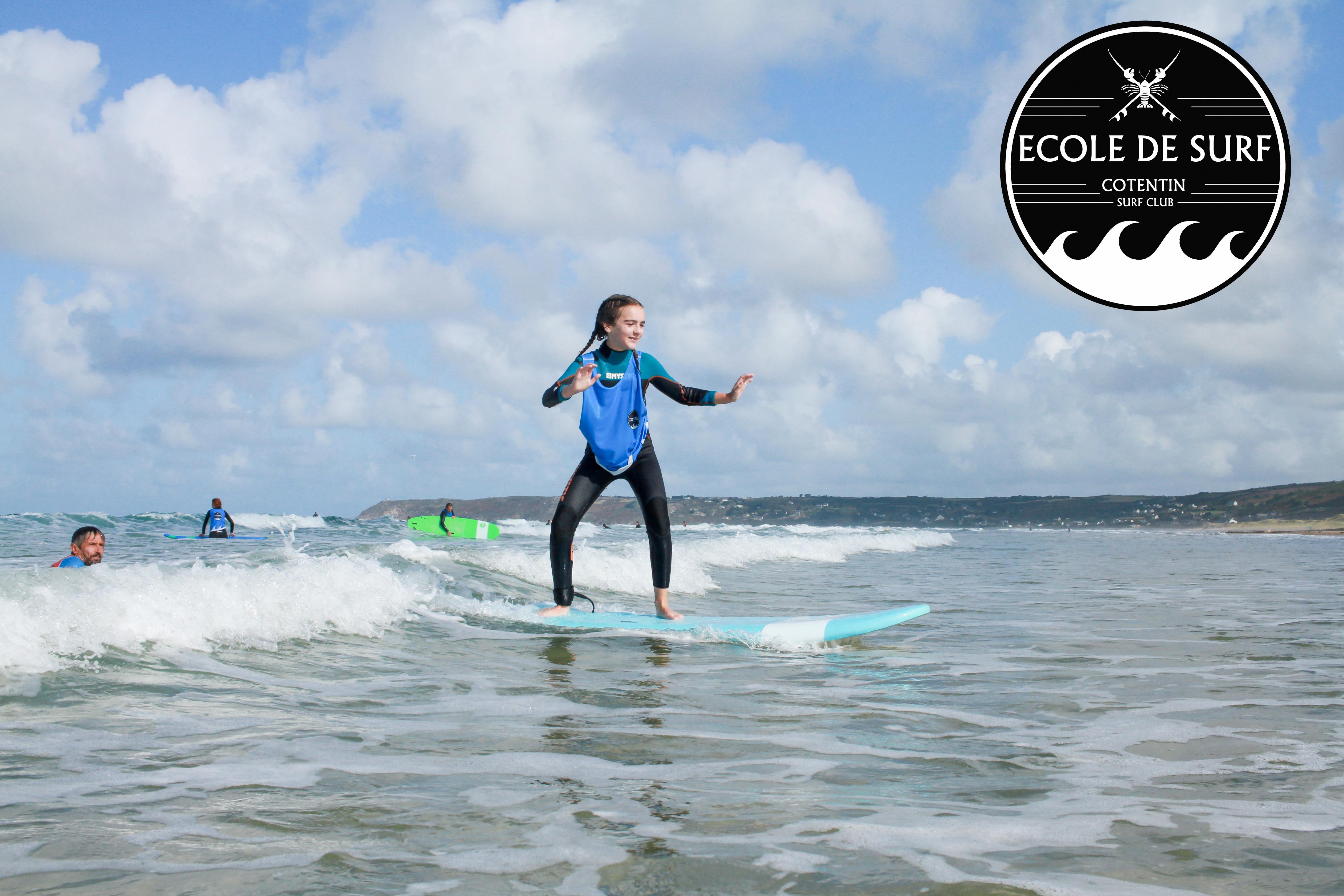Apprendre à surfer cet été , avec le Cotentin Surf Club